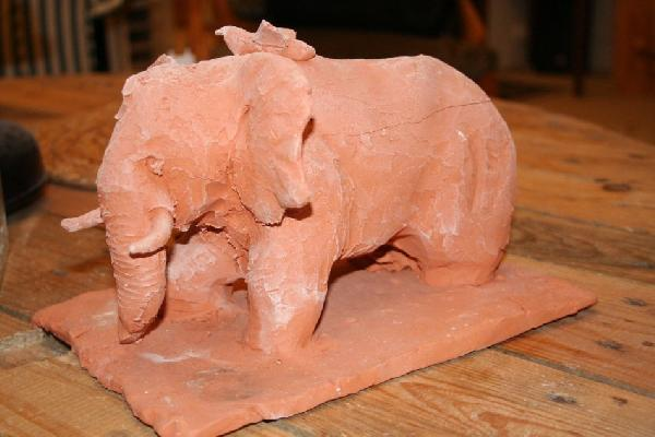 Elephant med, une sculpture by Jean-Christophe Patat