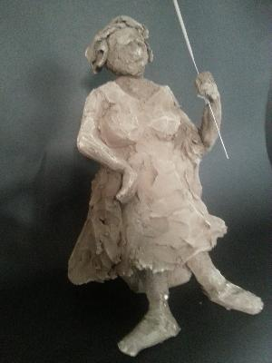 le-modele med, une sculpture by Jean-Christophe Patat